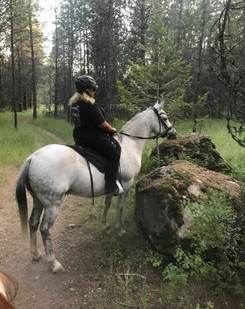 Trail Riding and watching the deer